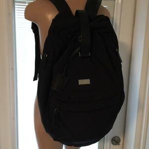 GUCCI black canvas XL Large duffle BACKPACK Bag